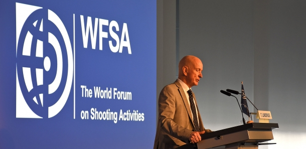 The WFSA President Torbjörn Lindskog, during the opening speech