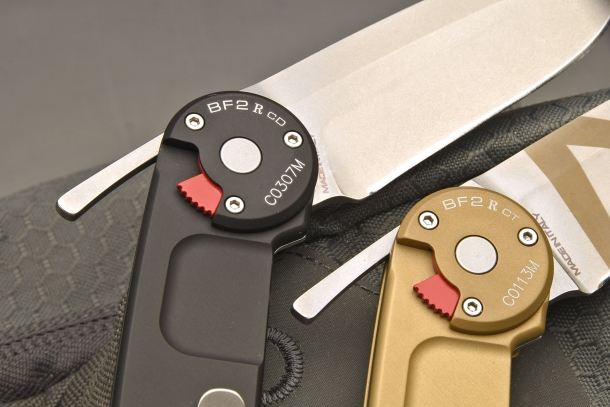 Speed Razor Opening System: the opening system of the new Extrema Ratio BF2 R knife is very similar to that typically found on a straight razor