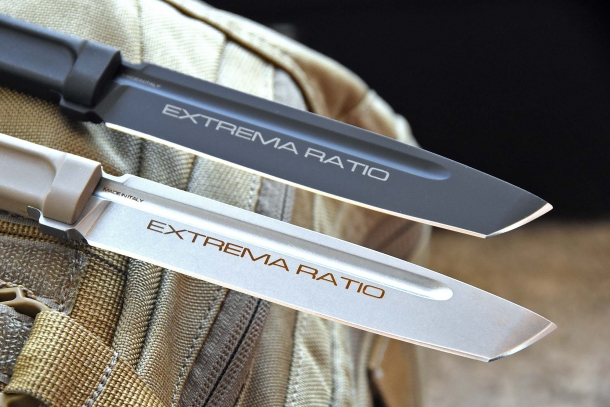 The Mamba blade is available in white and black finish: this last model is called the Black Mamba
