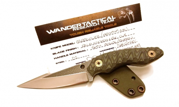 Wander Tactical's prototype Barracuda fighting knife