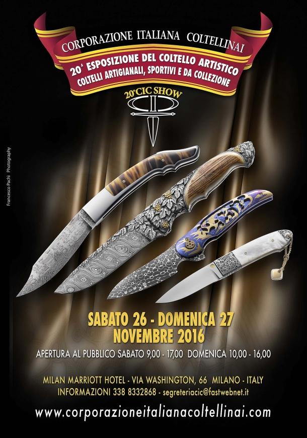 La locandina del ventenale del C.I.C. Show, che si terrà a Milano il 26-26 novembre 2016