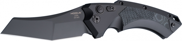 Le lame dei nuovi coltelli Hogue EX-A05 sono realizzate in acciaio con trattamento criogenico