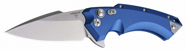 The Hogue X5 knife is available with a spear-point blade or a Wharncliffe blade