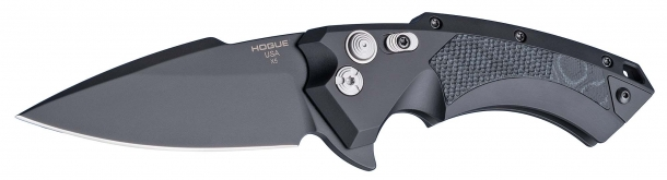 The blades of the Hogue X5 knives are available in Kiln baked black Cerakote™ or Tumbled Stone Wash finishes