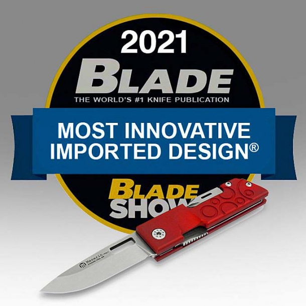 The Maserin D-DUT knife won the 2021 Blade award as the most innovative imported design of the year