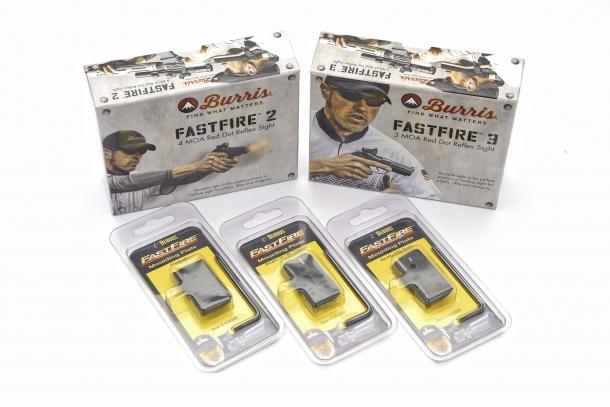 Sono disponibili delle basette che permettono il montaggio dei Burris FastFire su alcuni modelli di pistola