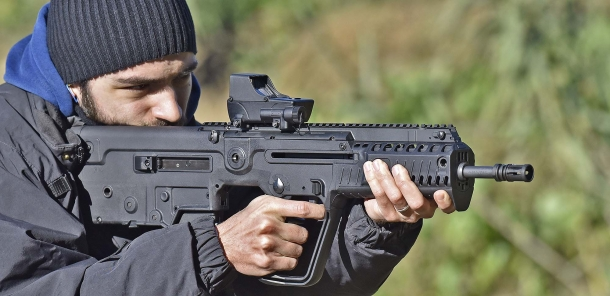 The Tru-Dot RDS mounted on a IWI Tavor X95
