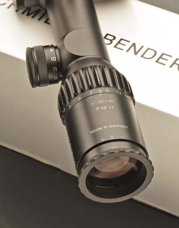 The eyepiece of the Schmidt & Bender PM II 3-20x50