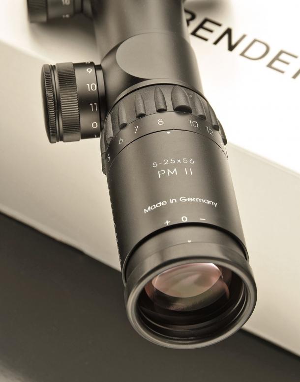 The eyepiece of the Schmidt & Bender PM II 5-25x56