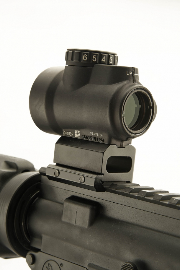 Trijicon's MRO seen from the rear