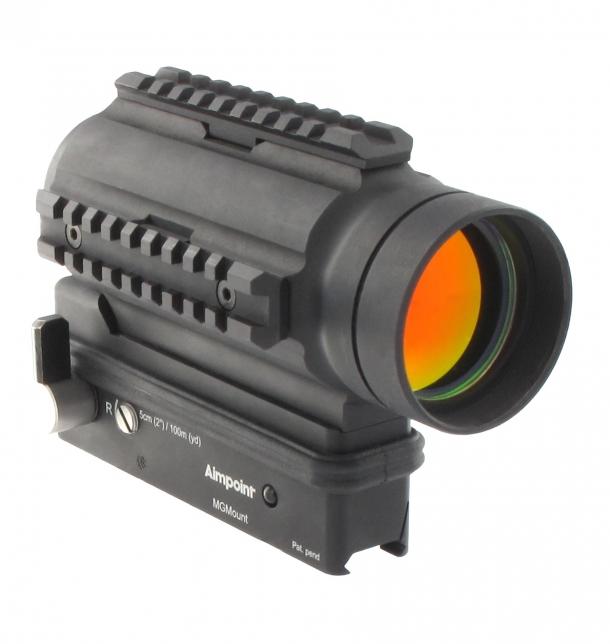 Il collimatore a riflesso Aimpoint MPS3 per mitragliatrici