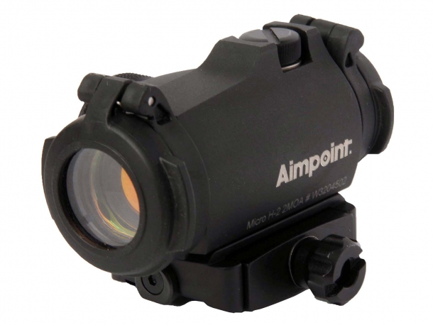 Aimpoint Micro H-2 red dot sight with dedicated mount for the SAKO Optilock system