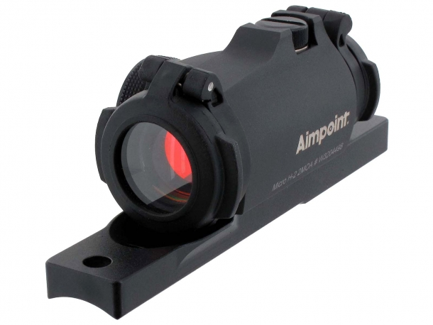 Aimpoint Micro H-2 red dot sight with dedicated mount for semi-automatic hunting rifles