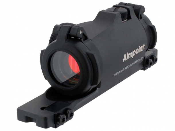 Aimpoint Micro H-2 red dot sight with dedicated mount for semi-automatic shotguns