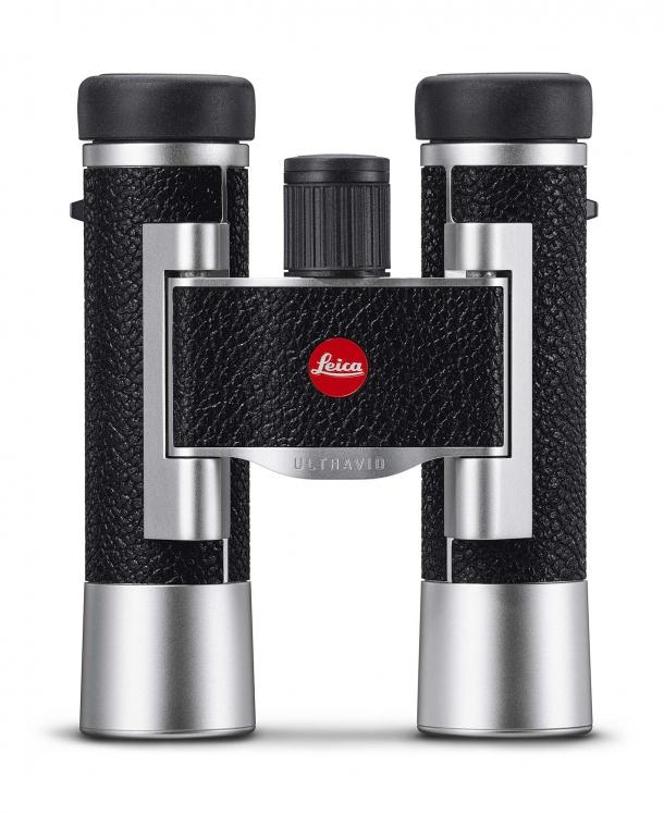 Binocolo Leica Ultravid 10x25, in versione argento