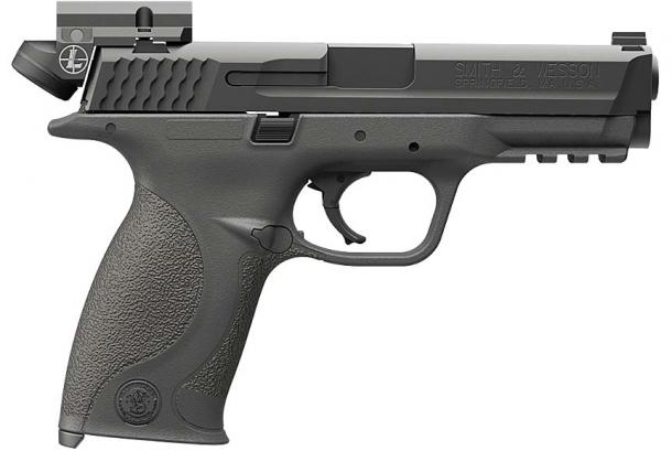 Ottica a punto rosso Leupold Deltapoint Micro su pistola Smith & Wesson M&P