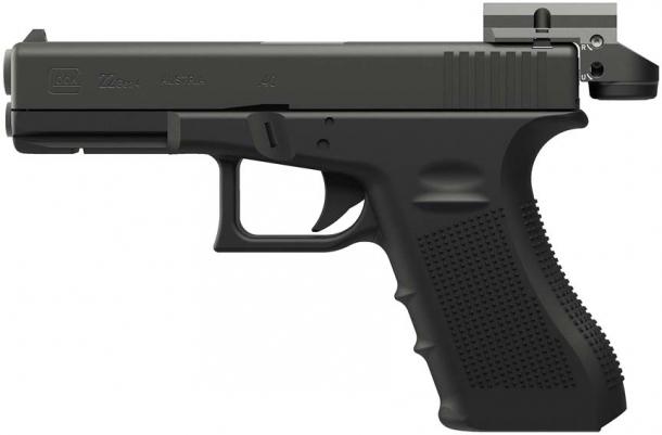 Ottica a punto rosso Leupold Deltapoint Micro su pistola Glock