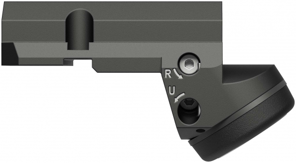 Leupold Deltapoint Micro red dot sight for Smith & Wesson M&P pistols – left side
