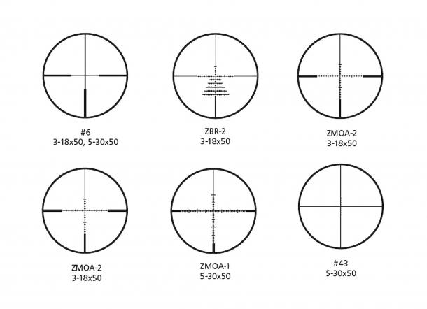 I nuovi reticoli degli Zeiss Conquest V6 Target