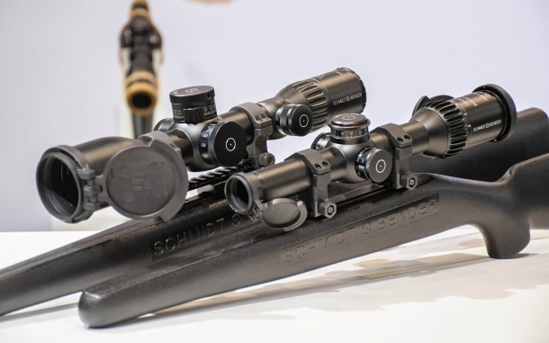 Schmidt & Bender EXOS 3-21x50 and PM II 1-8x24 Shortdot Dual CC riflescopes