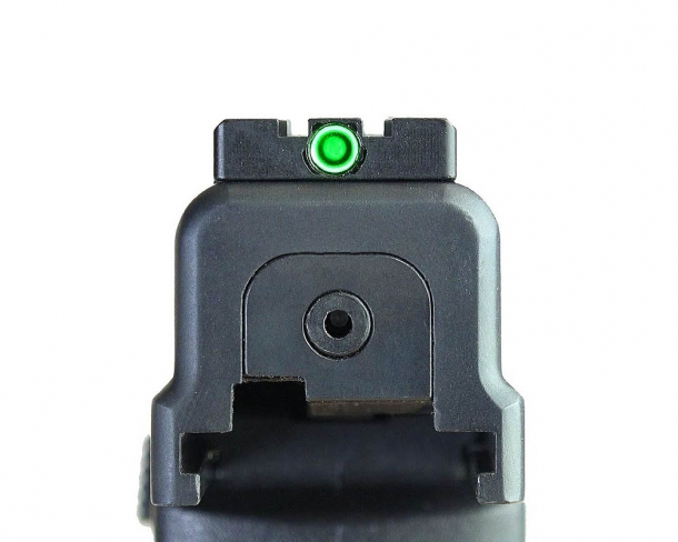 Meprolight's FT Bullseye rear sight will attach on the slide of most modern pistols and lets shooters do without a front sight