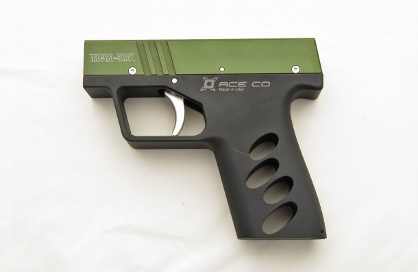 Left side of the AceCo. Micro-Shot pepper spray pistol