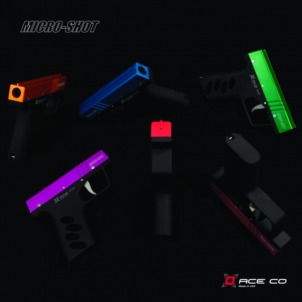 The Micro-Shot is available in a plethora of color configurations