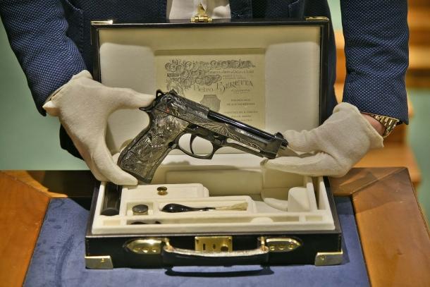 Right side of the Beretta 98FS Demon pistol