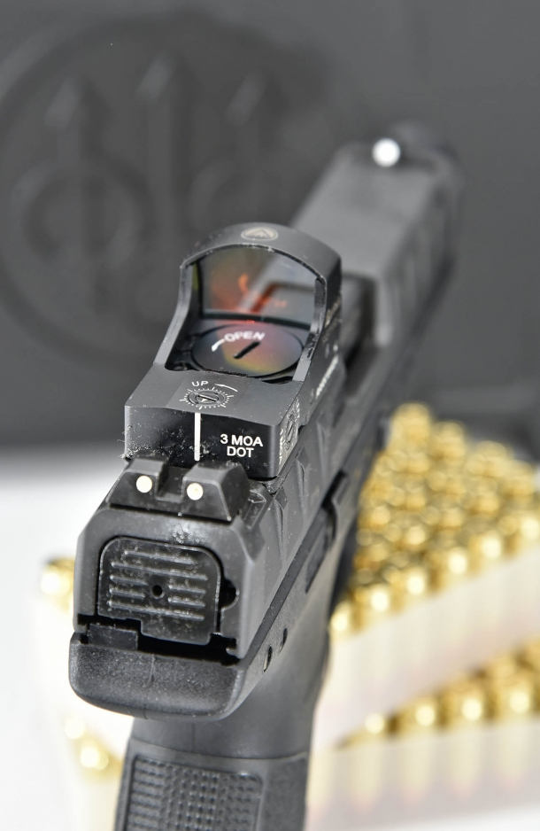 Optics-ready: the APX Combat shares a modular proprietary interface system for reflex sights with the APX RDO model