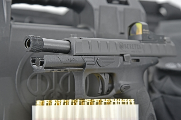 The APX pistol design features a Browning-type working system in lieu of Beretta's quintessential tilting barrel block