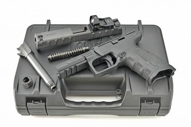 The new Beretta APX Combat pistol, field-stripped