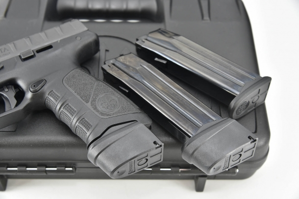Extended magazines are available for the Beretta APX Combat line, both in 9mm and .40 caliber