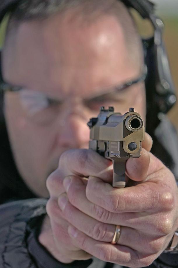 La Beretta M9A3 in punteria: un feeling familiare, spiccatamente migliorato