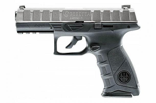 Il clone Glock della Beretta. L'unico elemento degno di nota della APX è il pulsante che disattiva lo scatto e consente lo smontaggio evitando di effettuare il pericoloso scatto a secco