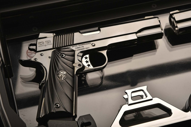 The right handed version of the Cabot Guns Mirror Image Pistols