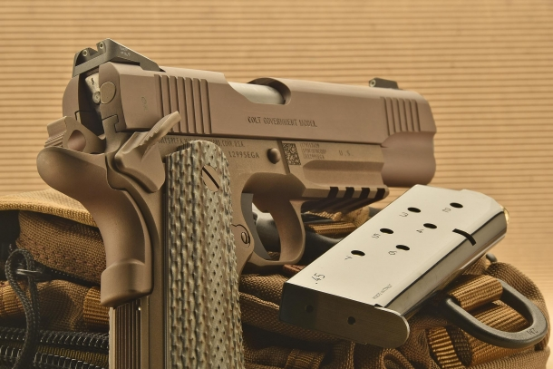 The M45A1 skips the mainstream Cerakote finish for a more resistant IonBond Decobond coating