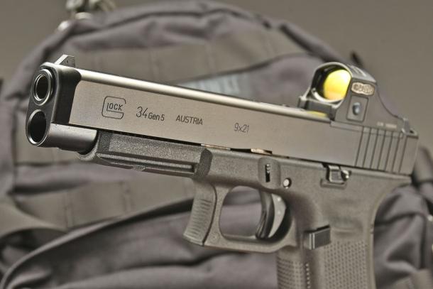 Glock 34 Gen 5 MOS con un Meopta MeoRed 30 1x da 3 MOA