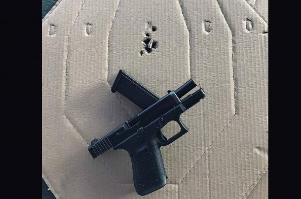 rosata ottenuta a 7 metri con la Glock G19 Gen 5 calibro 9mm