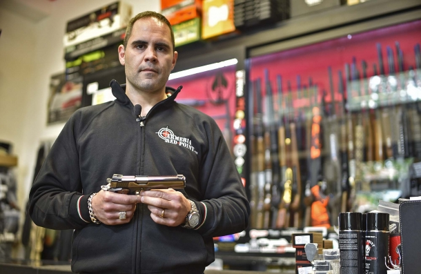 Fabiano Visintini, owner of the Red Point gun shop in Ostia (Rome, Italy) where we had access to the pistol
