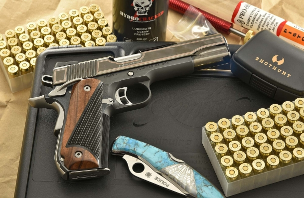 The slide of the Kimber Classic Carry Elite pistol is PVD-finished