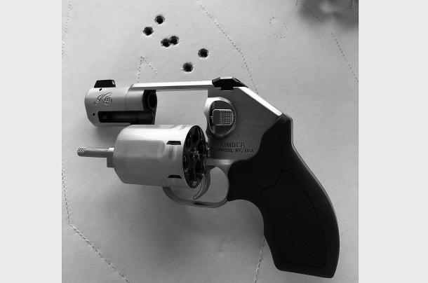 rosata ottenuta tirando a media velocità alla distanza di 7 metri con il revolver Kimber K6s calibro .357 Magnum