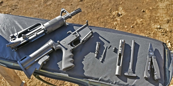 Field-stripping the Olympic Arms K23B Stubby