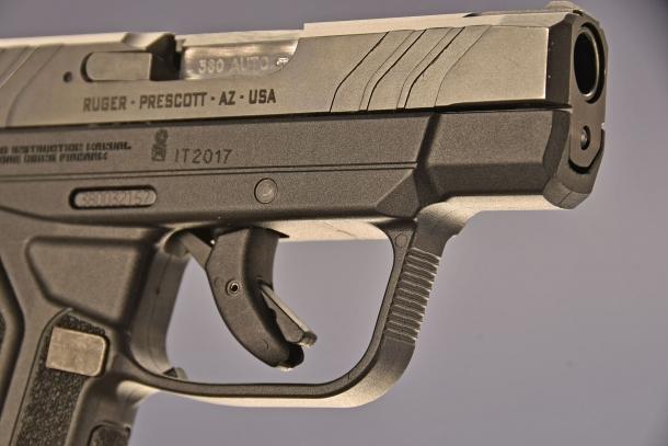 il grilletto della Ruger LCP II  calibro .380 ACP, presenta una sicura anti caduta, mutuato da quello della famosa pistola Glock