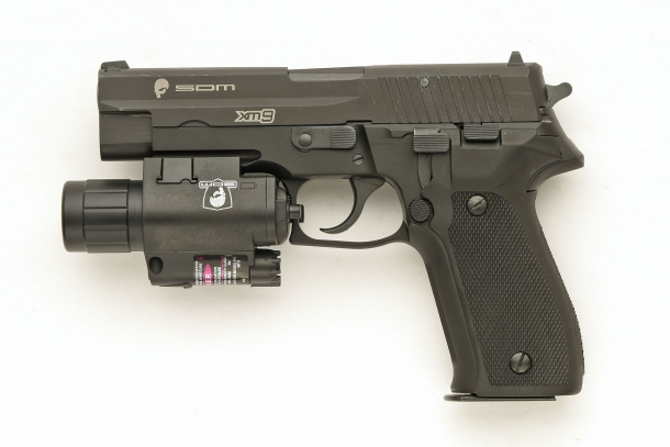 Left side view of the S.D.M. XM9 Operator semi-automatic pistol