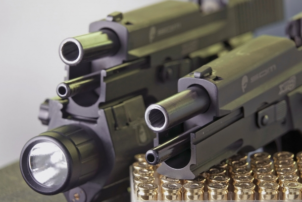The muzzle of the XM9 Tactical and Operator pistols; workmanship is great