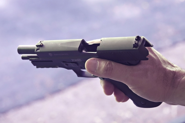 Despite being a full-sized pistol, the XM9 is comfortable to grip and handle – even to small-handed shooters