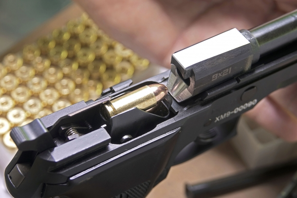 The cartridge being fed from the magazine aligns perfectly to the bore axis for flawless feeding