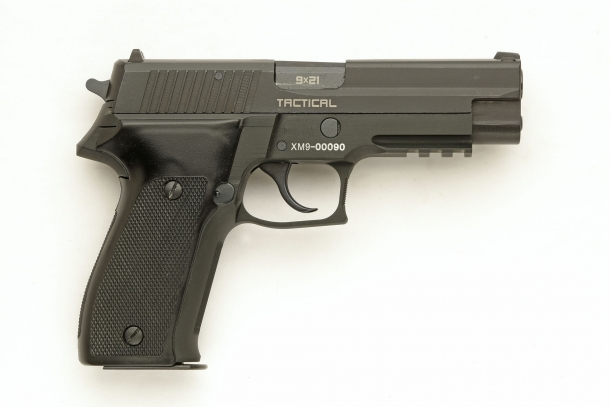 Right side view of the S.D.M. XM9 Tactical semi-automatic pistol