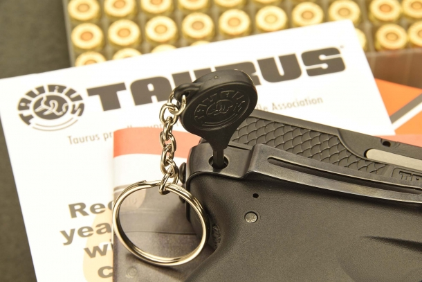 The Taurus Security System will lock the gun, making it impossible to use, for secure storage
