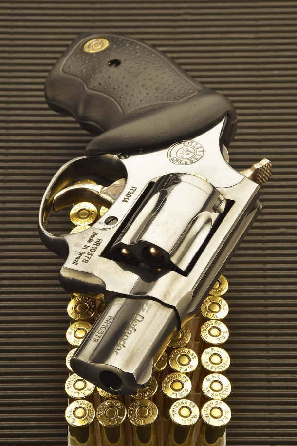 The Taurus 85 Defender revolver is available in black and stainless variants